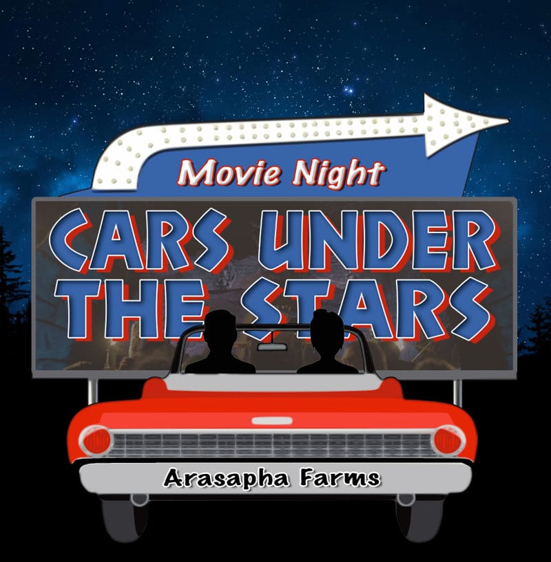 Drive in movie night at Harvest hayride